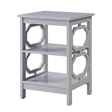 Convenience Concepts Omega End Table, Gray