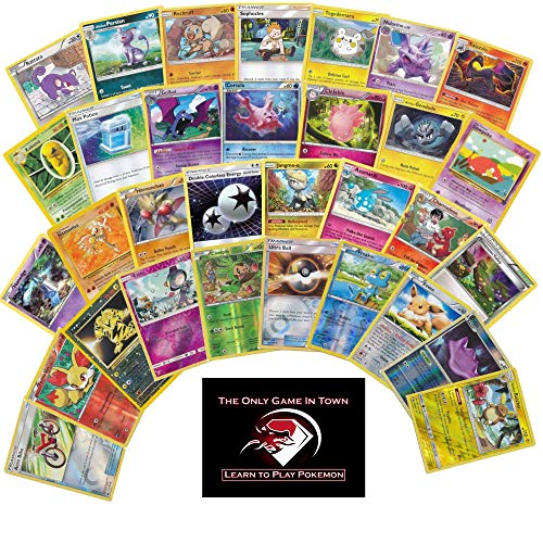 100 Pokemon Cards Plus 10 Foil Holos and Learn to Play Pokemon Instructions