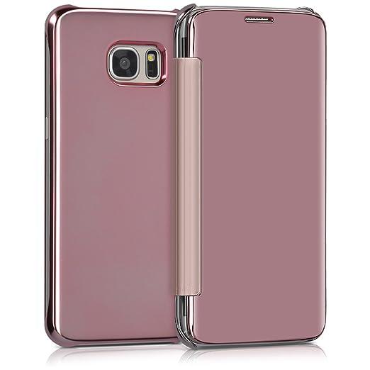 3 opinioni per kwmobile Cover per Samsung Galaxy S7 edge- Custodia flip protettiva a specchio