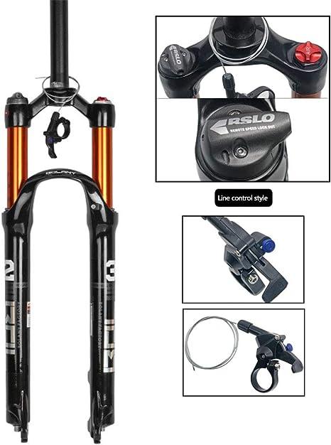 CHUDAN Bicicleta de montaña Tenedor, Amortiguadores neumáticos de ...