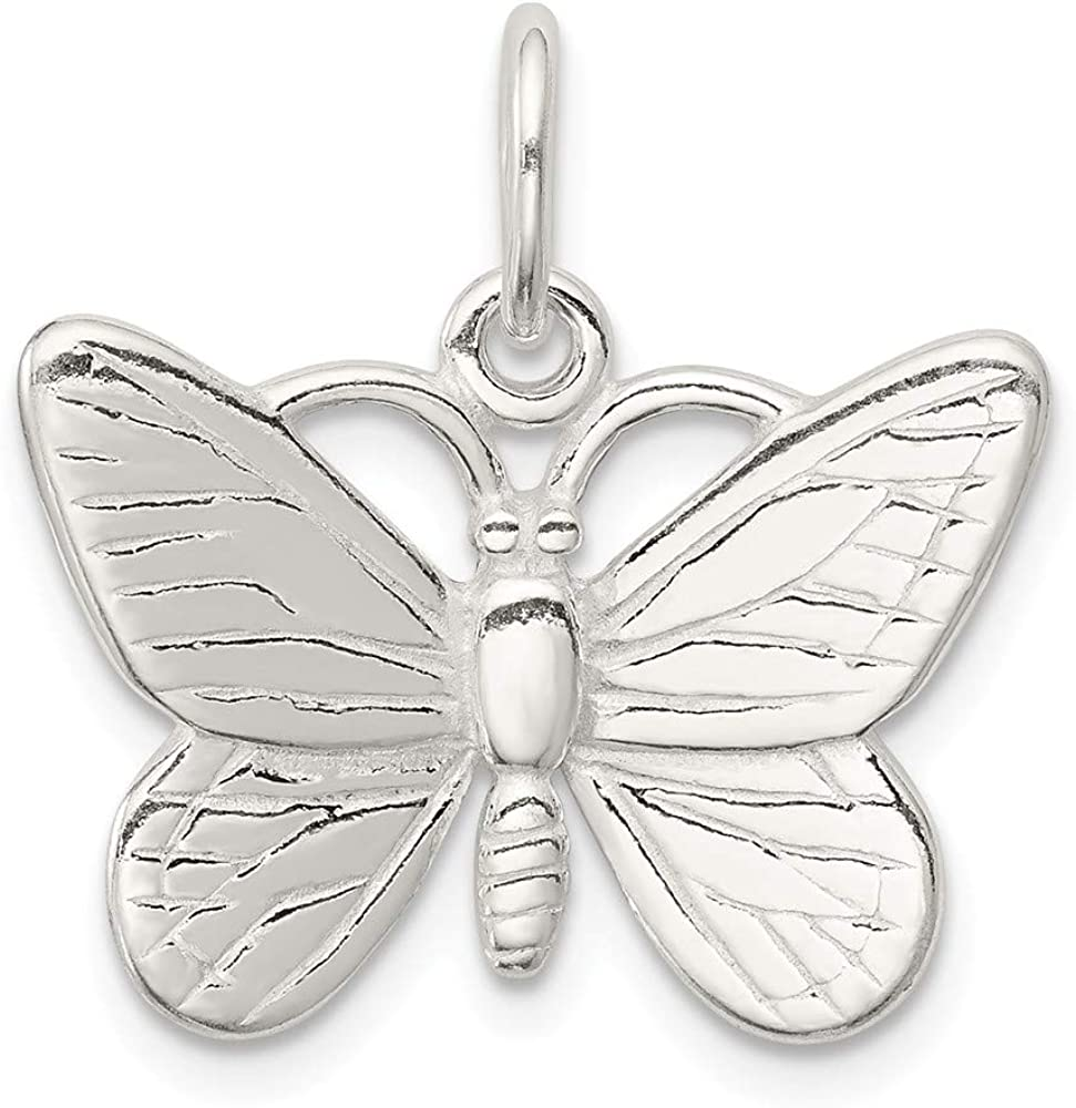 Butterfly Charm Diamond Butterfly Charm 92.5 Sterling Silver Pendant Victorian Butterfly Charm Pendant Pave Charm Diamond Charm