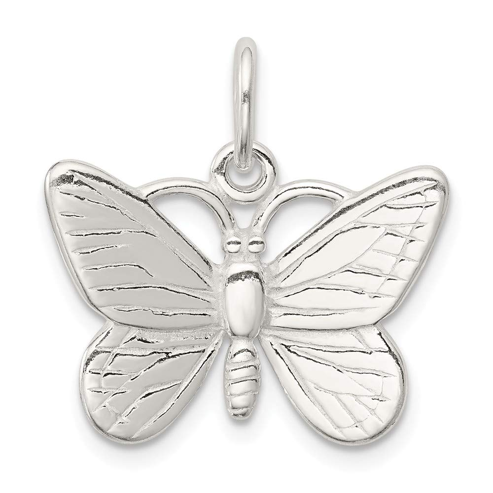 FB Jewels Solid Sterling Silver Butterfly Charm
