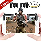 Cheap Mobile Game Controller for PUBG, (Newest Version) Sensitive Shoot and Aim L1R1 Trigger Buttons for Rules of Survival / Critical / Knives Out / PUBG (1 Pair D4)
