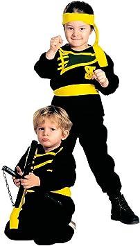 NET TOYS Disfraz Infantil Ninja pequeño Samurai Traje Negro niño Guerrero japón Carnaval Karate: Amazon.es: Juguetes y juegos