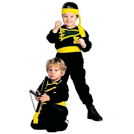 NET TOYS Disfraz Infantil Ninja pequeño Samurai Traje Negro niño ...