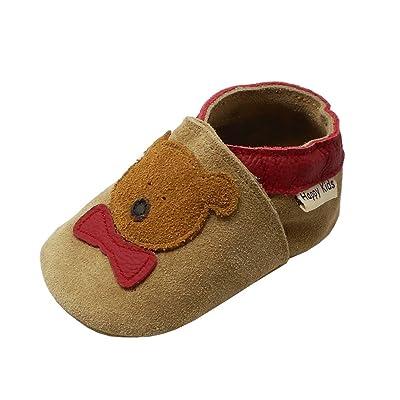 002c298f9267a YIHAKIDS Chaussures Bébé - Chaussons Bébé - Chaussons Cuir Souple -  Chaussures Cuir Souple Premiers Pas - Bébé Fille Garçon Dessin Ours  Chaussures