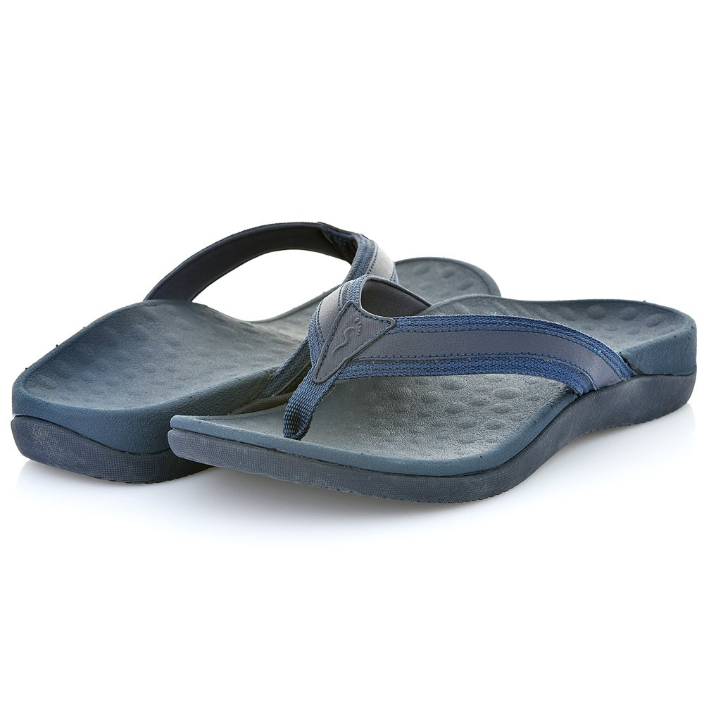 Footminders BALTRA Unisex Orthotic Arch Support Sandals (Pair) - Walking Comfort with Orthopedic Support (Men 11 - Women 12, Navy Blue) by Footminders