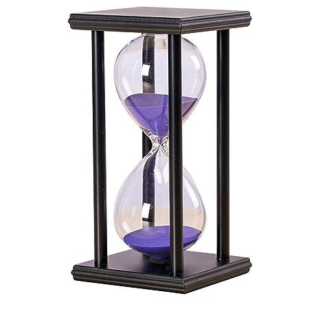 Reloj de arena reloj de arena reloj de madera 30 minutos para cocina, juegos de