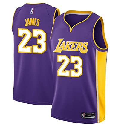 new style 13721 a2e89 Amazon.com : Jordan Men's Los Angeles Lakers #23 Lebron ...