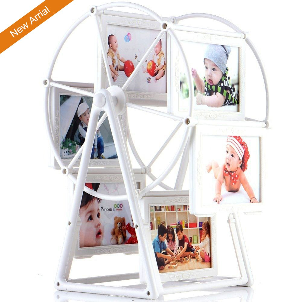 Baby Photo Frame, 12 Photos 5 Inch Ferris Wheel Windmill Shape Picture Frame, Table Desk Decoration, Baby Shower Gift, Home Art Decor Feiyar
