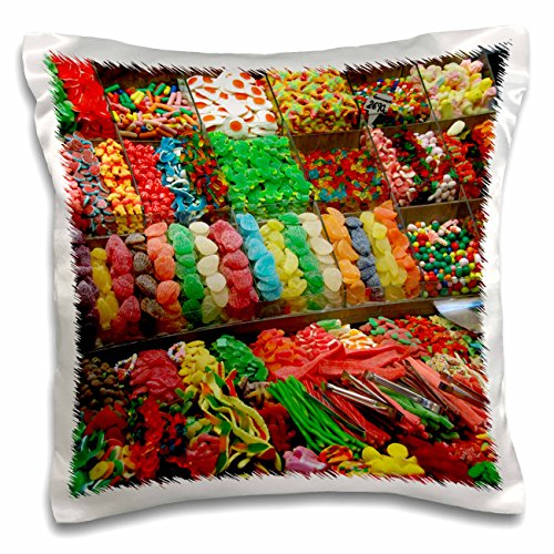 3dRose Spain, Barcelona, La Rambla, Market Candy-Eu27 Cmi0017-Cindy Miller Hopkins Pillow Case, 16 x 16'' by 3dRose