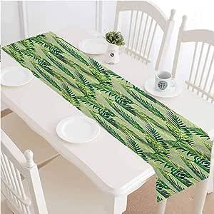 Amazon.com: LCGGDB Palm Leaf Table Runner Dresser Scarves ...