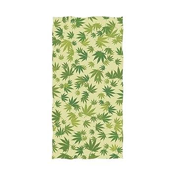 Ahomy Toalla de baño de algodón Suave Absorbente con diseño de Hojas de Marihuana para Hombres, Mujeres y niños: Amazon.es: Hogar