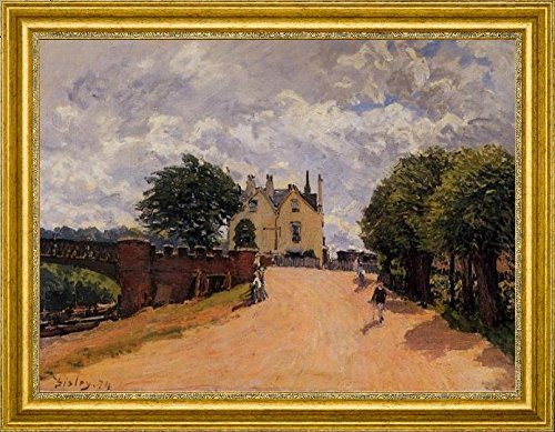 inn-at-east-molesey-with-hampton-court-bridge-by-alfred-sisley-20-x-27-framed-premium-canvas-print