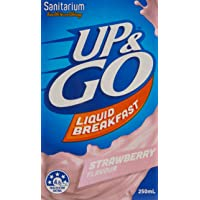 UP&GO Strawberry Flavour School Liquid Breakfast Drink, 12 x 250ml