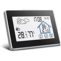 Digoo Dg-th8380écran tactile station météo, thermomètre, météo Capteur extérieur sans fil Horloge, température et humidité et sortie écran