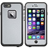 Decalrus - SILVER Texture Carbon Fiber Protective Vinyl Skin Decal for LifeProof fre