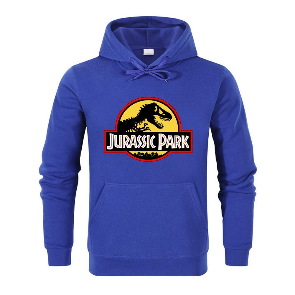 SLIEWU Unisex Jurassic Park Jurassic World Pullover Hoodie Heavy Fleece Coat