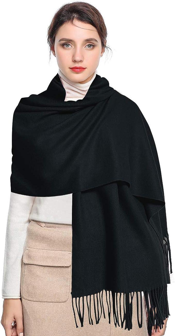 EASE LEAP Bufanda Mujer con Tacto Cachemira Fiesta Chal para Boda Suave Pashmina 200 * 70cm