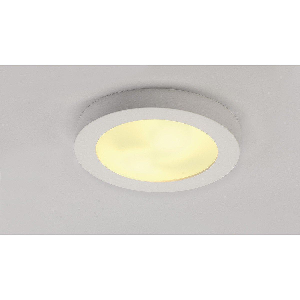 SLV Gipsleuchte PLASTRA 105 , , , Gestaltbare LED Decken-Leuchte zur Beleuchtung im Innenbereich , Runde LED Deckenlampe für Flur, Badezimmer, Kinderzimmer , 2x E27 Leuchtmittel (jew. max. 25W), EEK D-A+ 36b93a