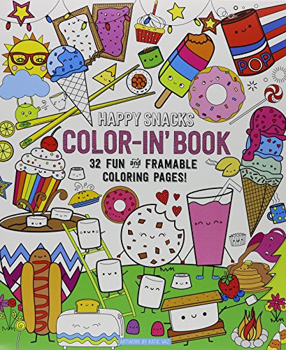 Color Bk-Happy Snacks Color-In