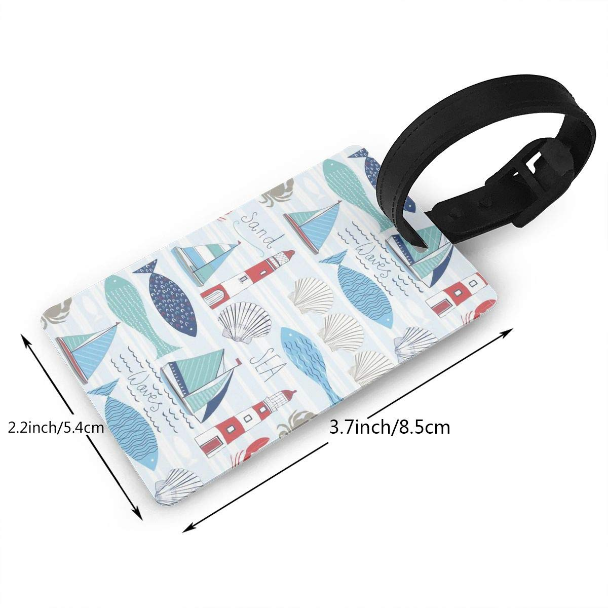 Sailboats Cruise Luggage Tag For Travel Bag Suitcase Accessories 2 Pack Luggage Tags