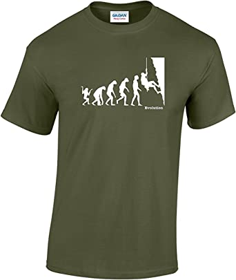 Camiseta para escalada, diseño de la evolución del hombre ...