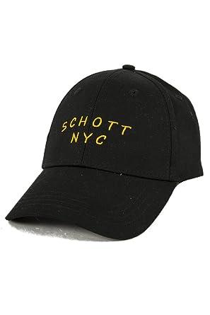 Schott NYC Men s Flat Cap - Black - One size  Amazon.co.uk  Clothing a9157135842