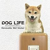 ウォールステッカー DOG LIFE Color 「柴犬 赤毛B」