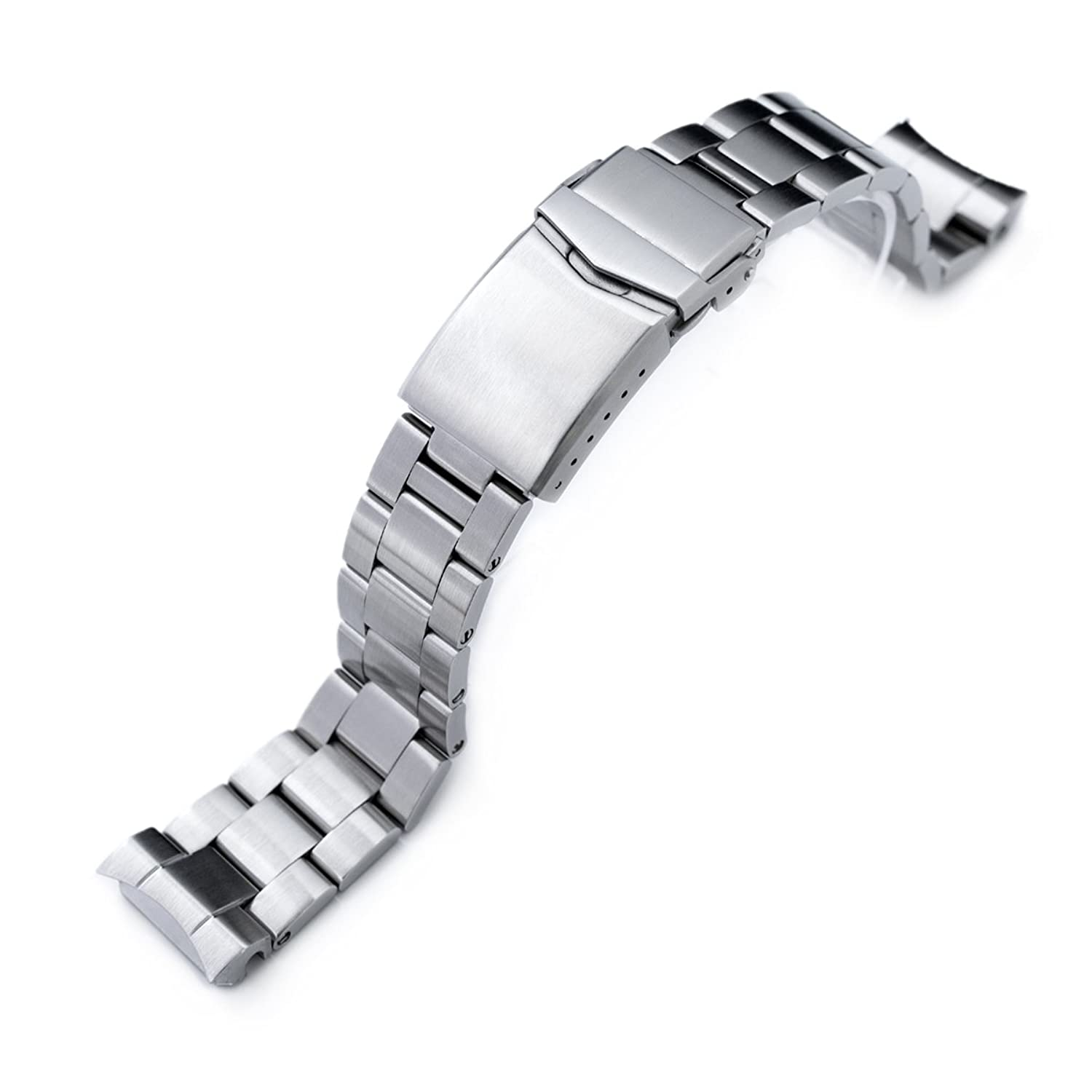 20 mmスーパーOyster Watch Band for Seiko mm300 Prospex Marinemaster sbdx001、v-clasp  B01N1J1S2M