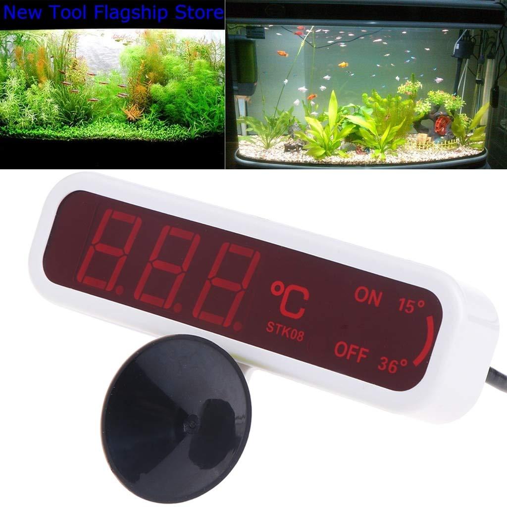 Ants-Store - LED Waterproof Submersible Thermometer Fish Aquarium Water Tank Temperature Test