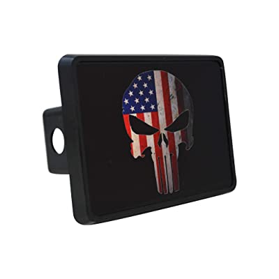 Rogue River Tactical USA American Flag Trailer Hitch Cover Plug US Patriotic Vintage Special Forces Skull: Automotive [5Bkhe0104511]