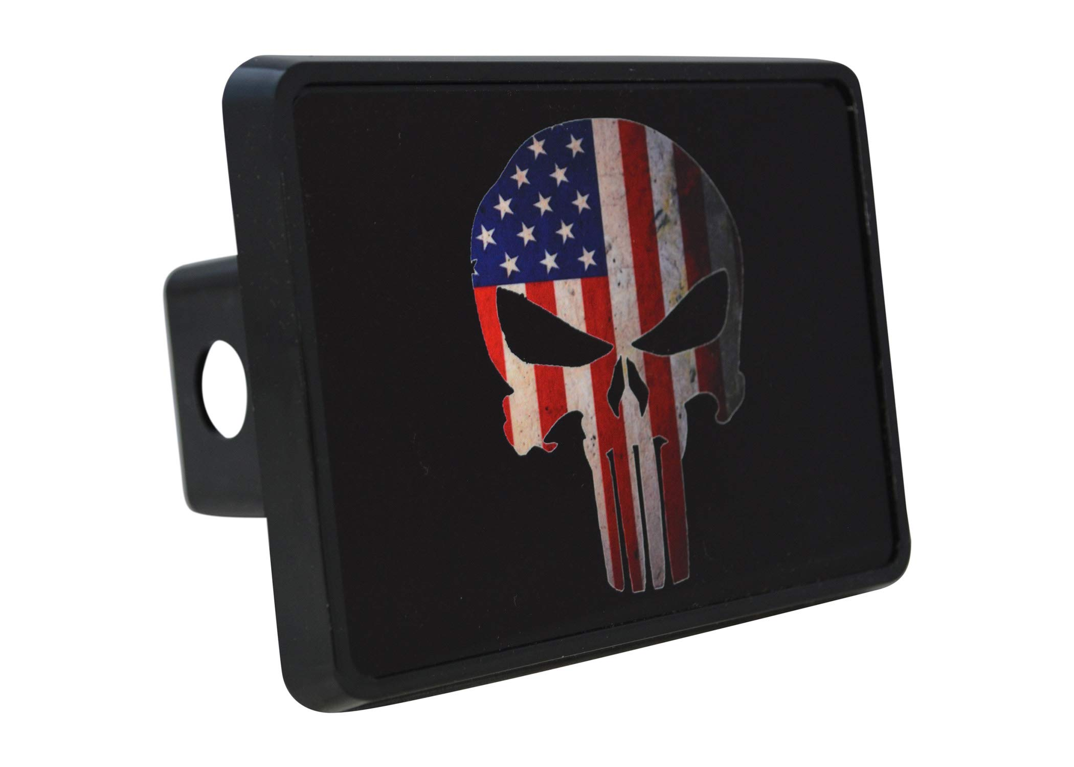 Rogue River Tactical USA American Flag Trailer Hitch Cover Plug US Patriotic Vintage Special Forces Skull by Rogue River Tactical
