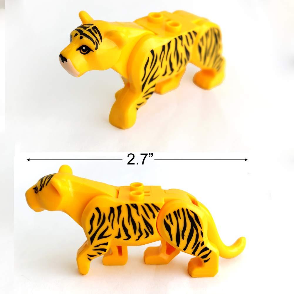 SPRITE WORLD Action Animals 12pcs//Set Building Blocks Zoon Figures Model Leopard Crocodile Educational Toys Compatible Major Block
