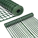Abba Patio Snow Fencing, Lightweight Safety Netting, Recyclable Plastic Barrier Environmental Protection, Dark Green, 2 x 50' Feet