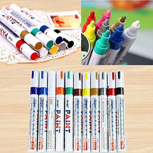 12 Colors Paint Marker Pen Set Fine Paint Oil Based Art Pen (Marker Oils)