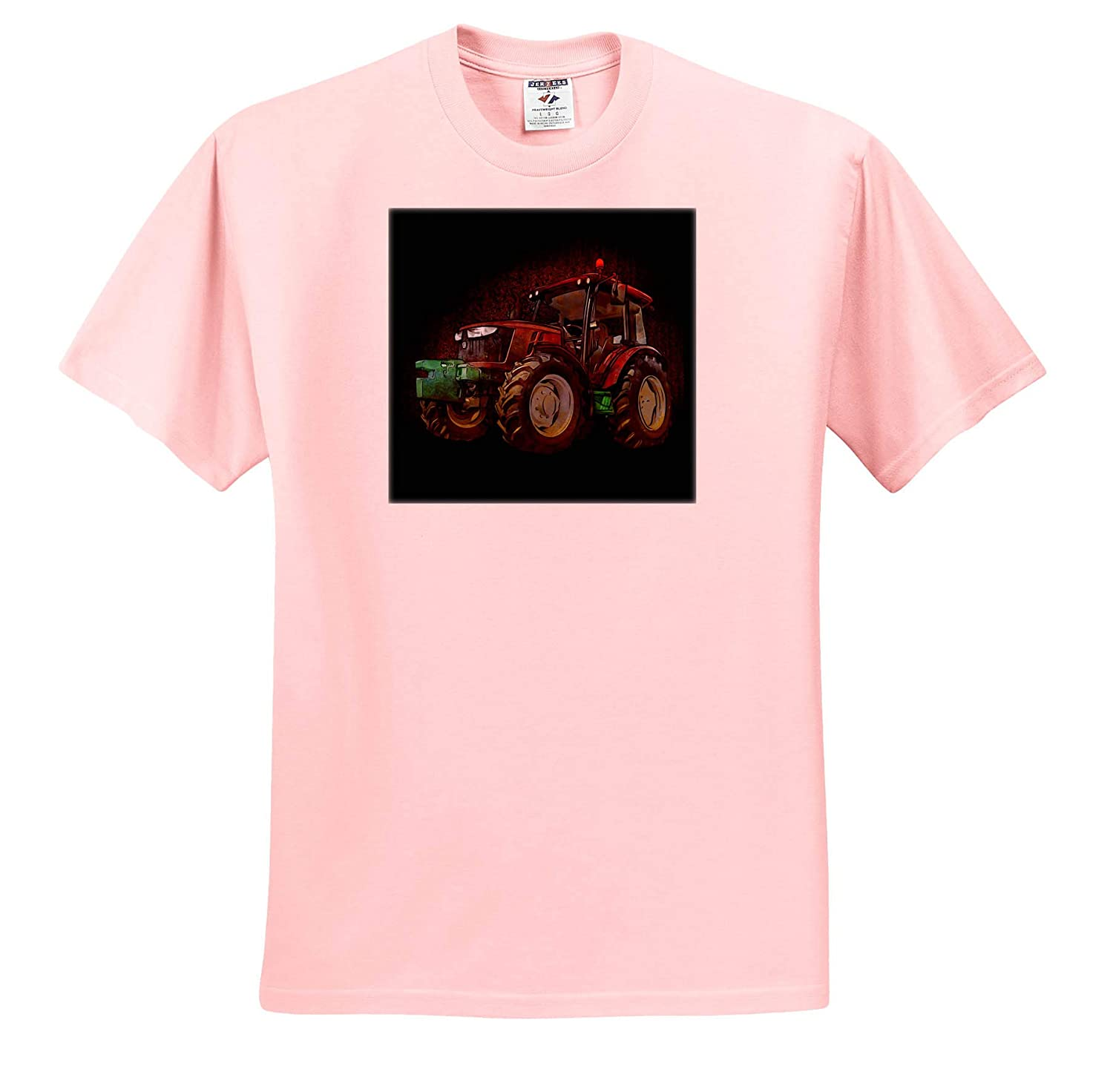 3dRose Sven Herkenrath Farmer Funny Illustration of a Tracktor for Farmer and Agriculture ts/_320753 Adult T-Shirt XL