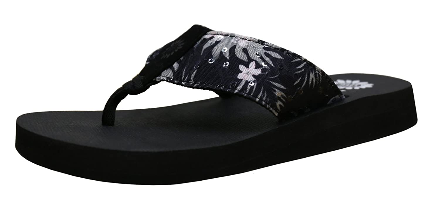 345bd167b259f best Yellow Box Women s Macnee Hawaiian Print Comfort Foam Wedge Flip Flop  Sandal
