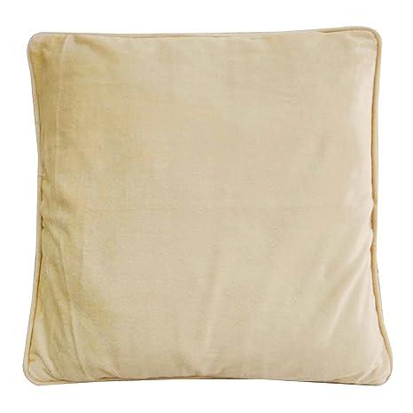 Amazon.com: Solid almohada cubierta Beige Cojín cuadrado ...