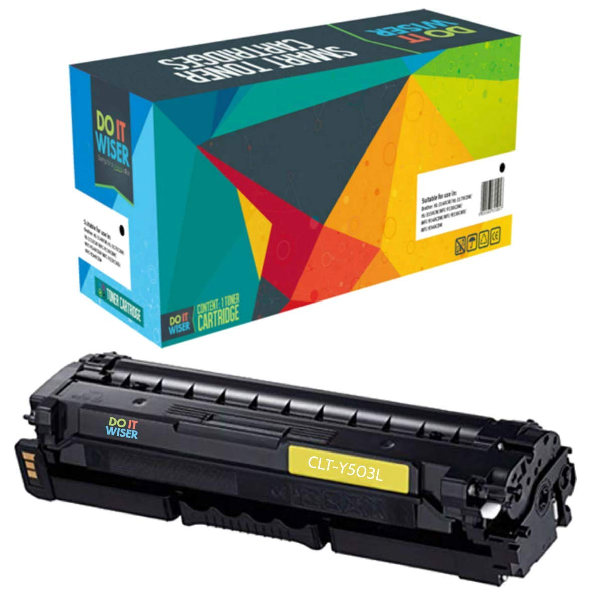 Do it Wiser  tóner CLT Y503L Cartucho de tóner  Compatible para Samsung ProXpress C3060FR C3010ND C3060N - Amarillo d2bb2c