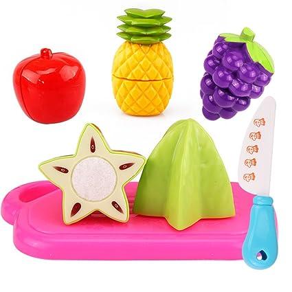 Vi.yo juguetes de cocina de plástico de corte de frutas y hortalizas juguetes educativos