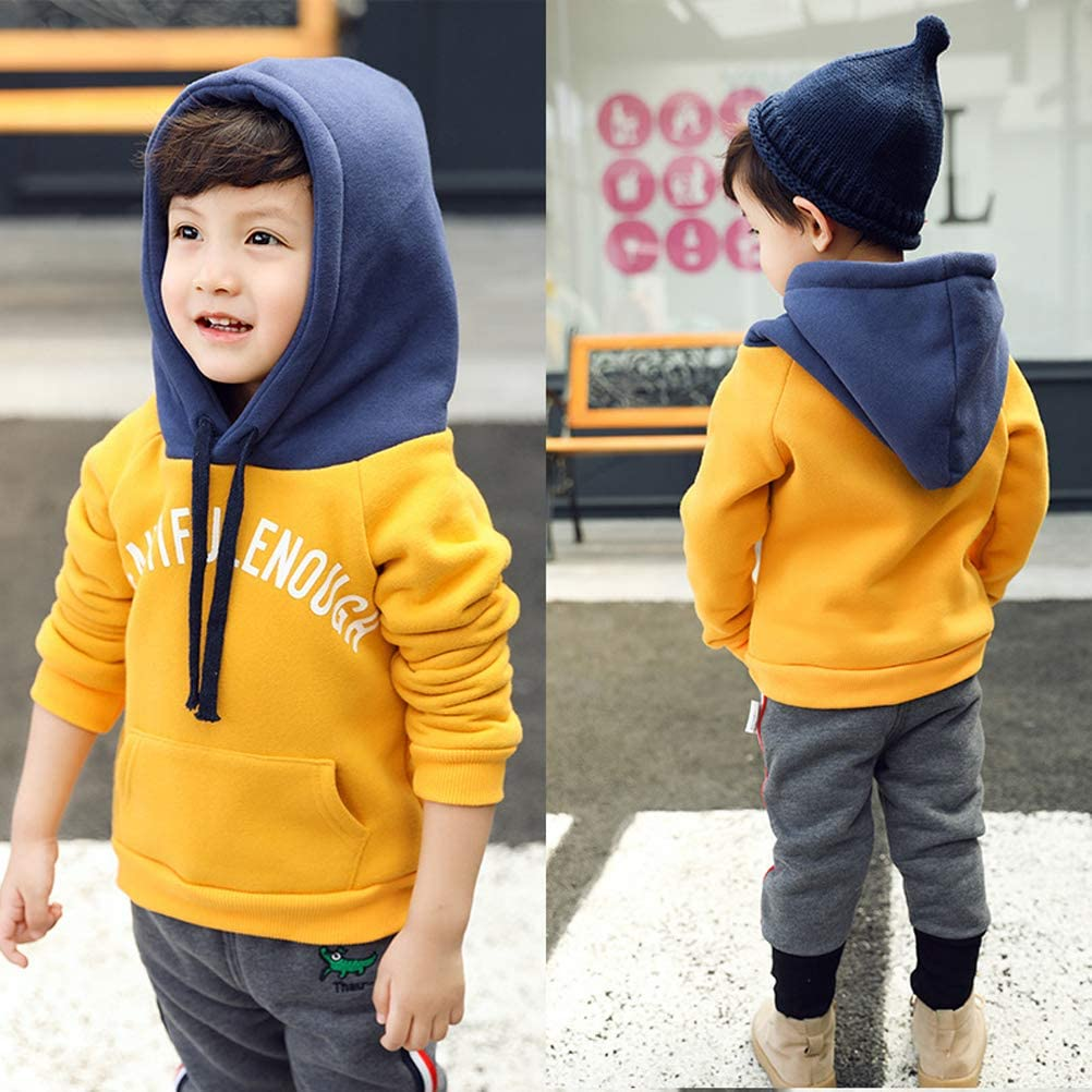 Nicola Baby Boys Girls Fall Winter Hoodie Sweatshirts Pullover Tops for 3-8 Years