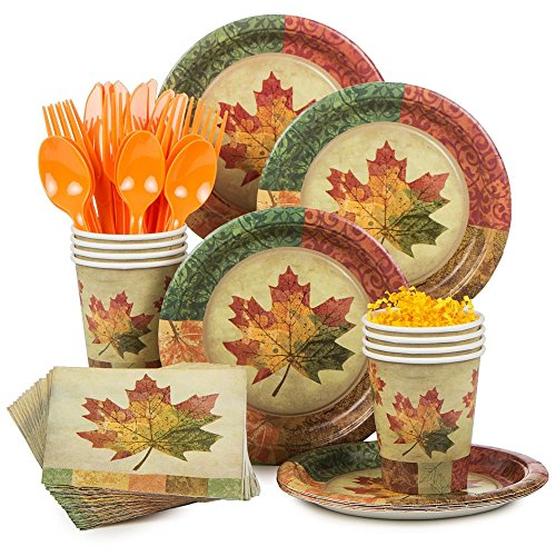 Costume Supercenter BBKIT1042 Rustic Fall Standard Tableware Kit