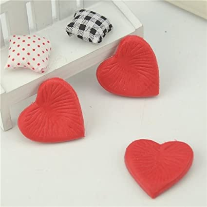 Amazon Com 100pcs Love Heart Silk Artificial Flower Rose Petals