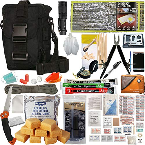 PREPPER'S FAVORITE: Emergency Get Home Bag with First Aid Kit, Water Filter,...