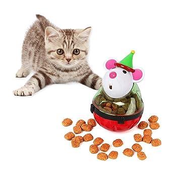 Aolvo Roly-Poly - Bola de tratamiento para gatos de bajo consumo, juguetes interactivos para pequeños perros ...
