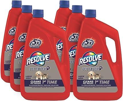 Resolve Pet Steam Carpet Cleaner Solution Shampoo 288oz 6 Bottles X 48 Oz Safe For Bissell Hoover Rug Doctor