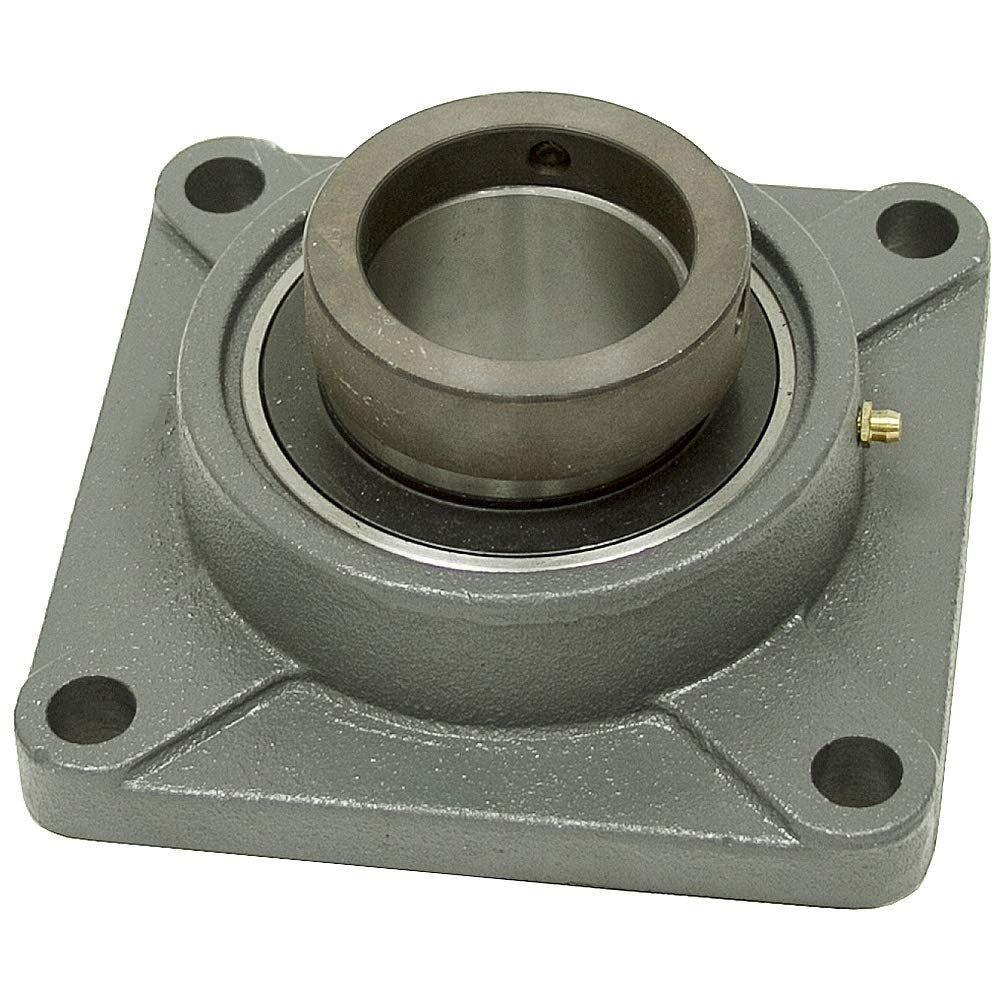 Cast Iron Housing 2-1//8 Shaft Size 6.38 Length 2.94 Thickness Big Bearing HCFS211-34 Four Bolt Flange Bearing with Lock Collar 2.94 Thickness 6.38 Length 2-1//8 Shaft Size