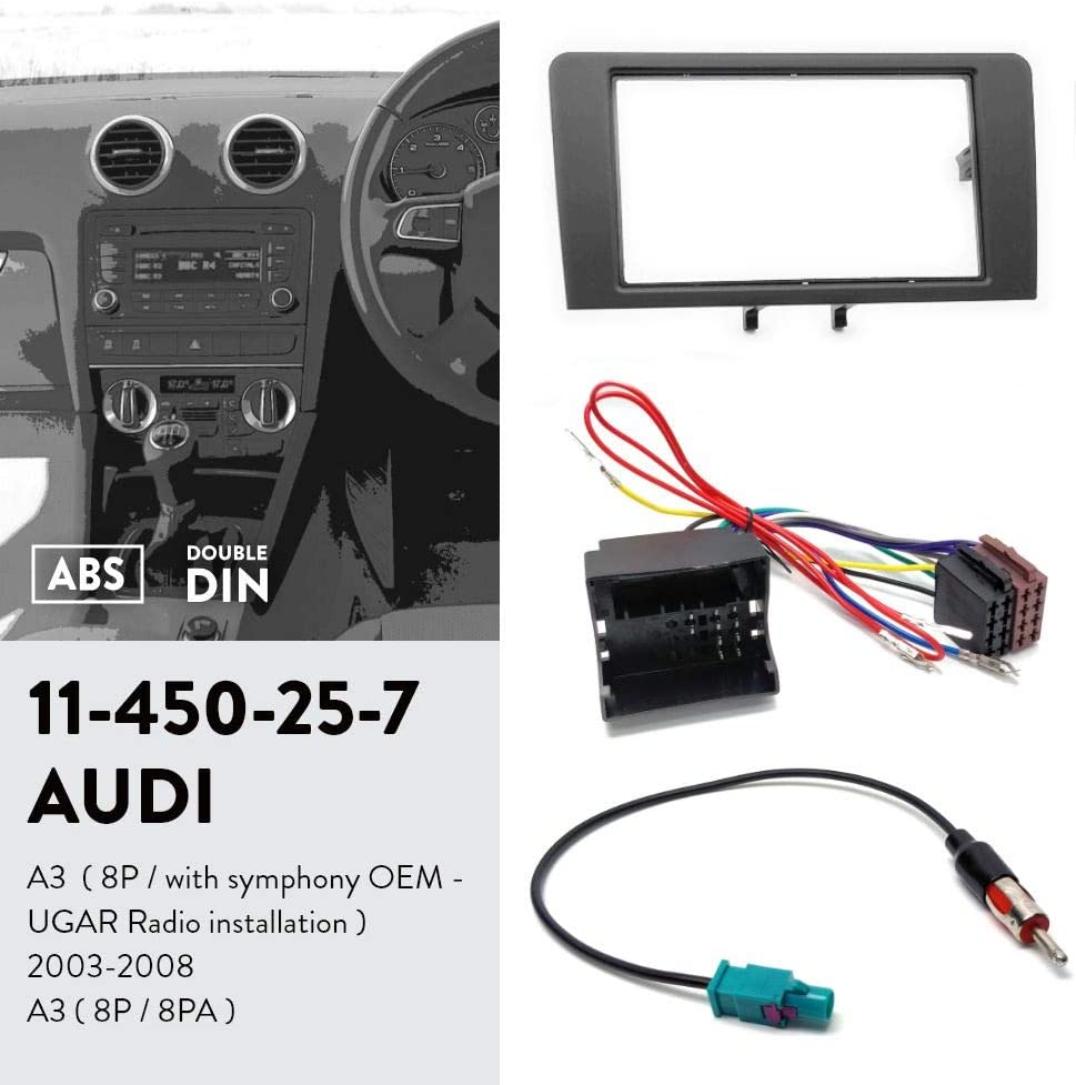 2007 audi a4 symphony wiring radio amazon com ugar 11 450 fascia kit iso harness antenna adaptor  ugar 11 450 fascia kit iso harness