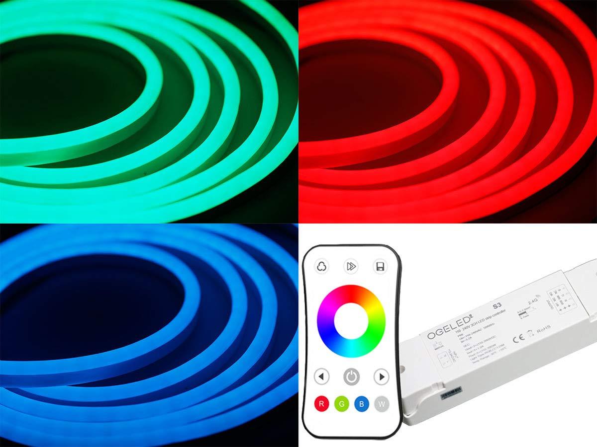 Ogeled Neon RGB LED Streifen 1-50m mit S3 Kontroller Neonflex diffus diffusion Strip Band leisten wasserfest IP65 2M